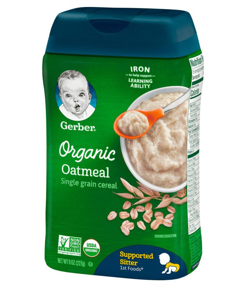 Gerber Organic Oatmeal Cereal Infant Cereal For 6 Months