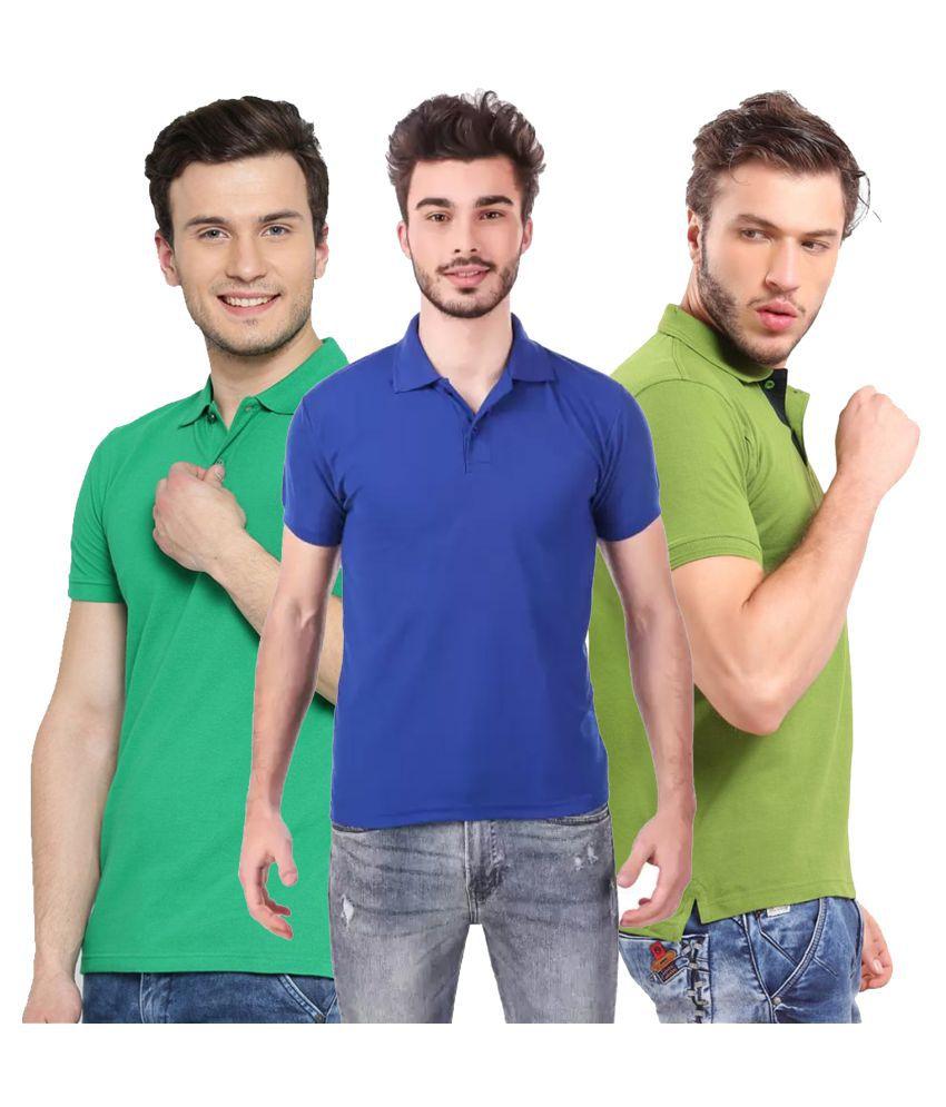 keoti Polyester Cotton Multi Solids T-Shirt
