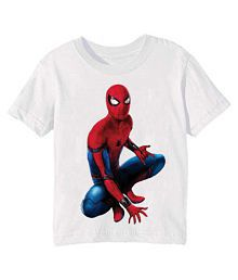 d5aa9342535d Quick View. Printe5 Boys White sitting spider man Kid Printed T Shirt 5-6  Years