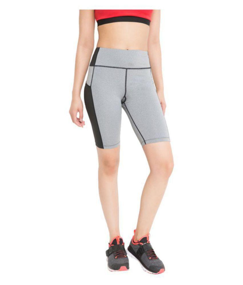 CHKOKKO Women's Sports Gym and Stretchable Yoga Shorts