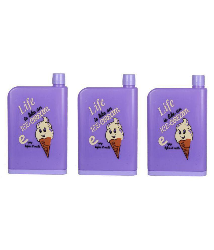 MauryaRetails A5 Notebook Purple 420 ml Polyproplene Water Bottle Set of 3