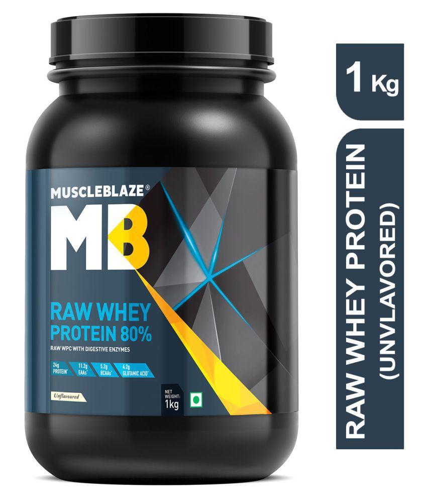 MuscleBlaze Raw Whey Protein 1 kg