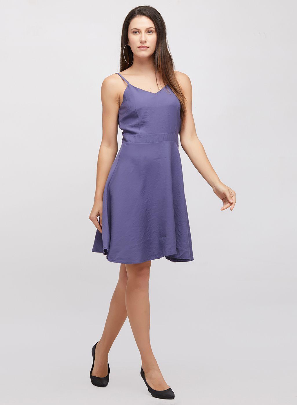 109 F Cotton Purple Regular Dress