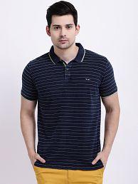 Taanz Blue Stripers Polo T Shirt