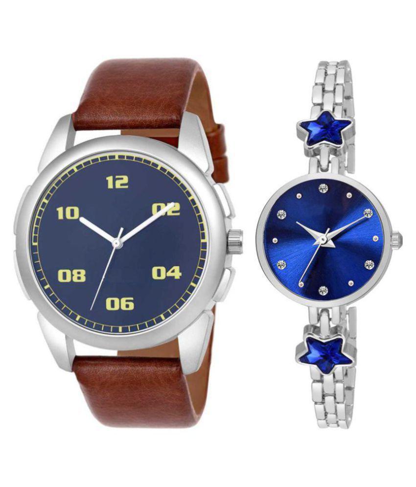 Herita Enterprise men and women analogue stylish fashionalble couple watch pack of 2 with 1364956674