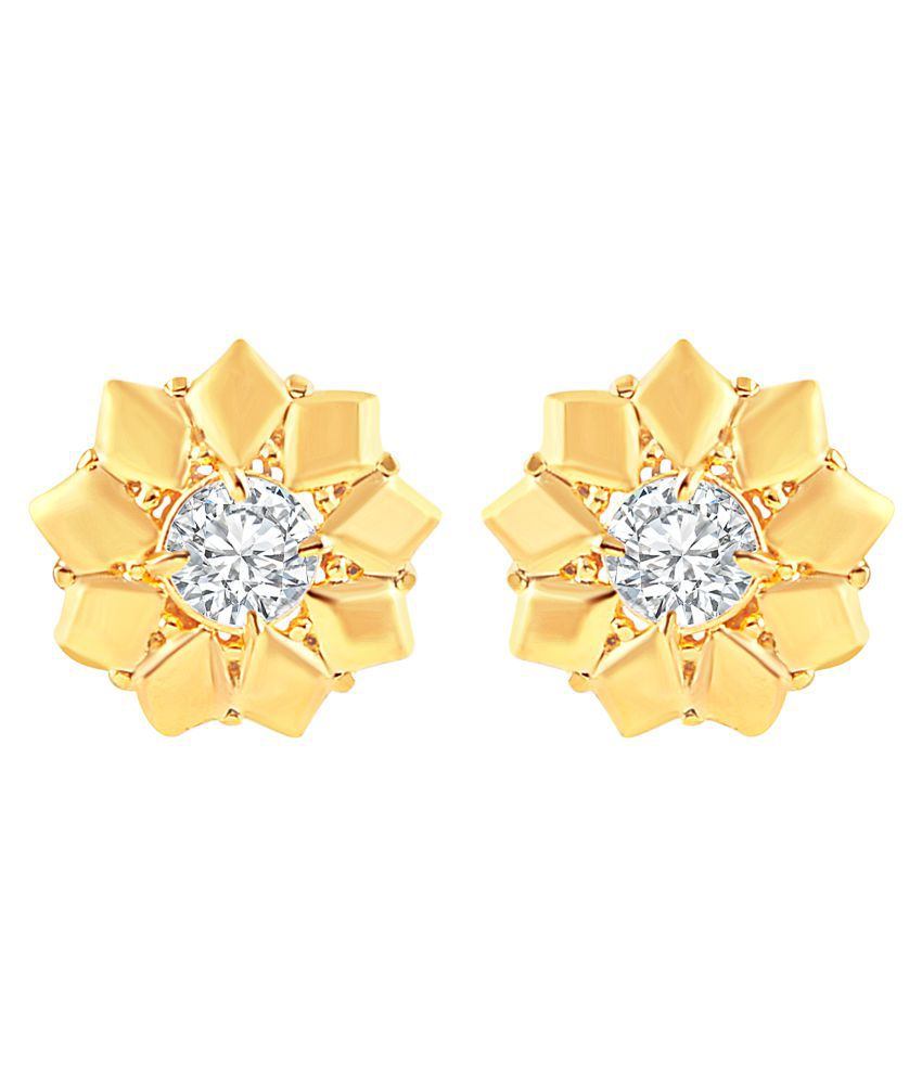 MFJ Fashion Jewellery Astonish Brass Gold Plated Stud Earring For Women