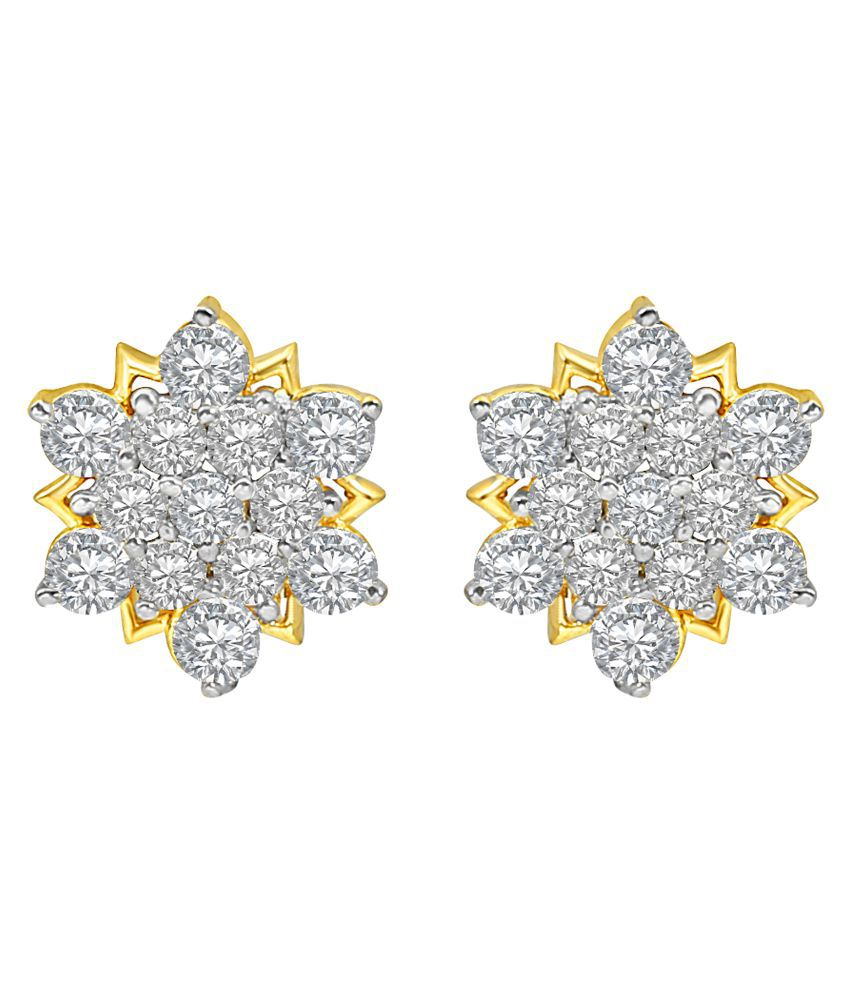 MFJ Fashion Jewellery Exotic Brass Gold Plated Stud Earring For Women