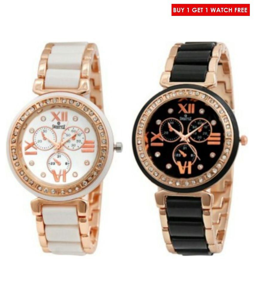 Swisstyle Multicolor Analog Watch - Buy 1 get 1 free