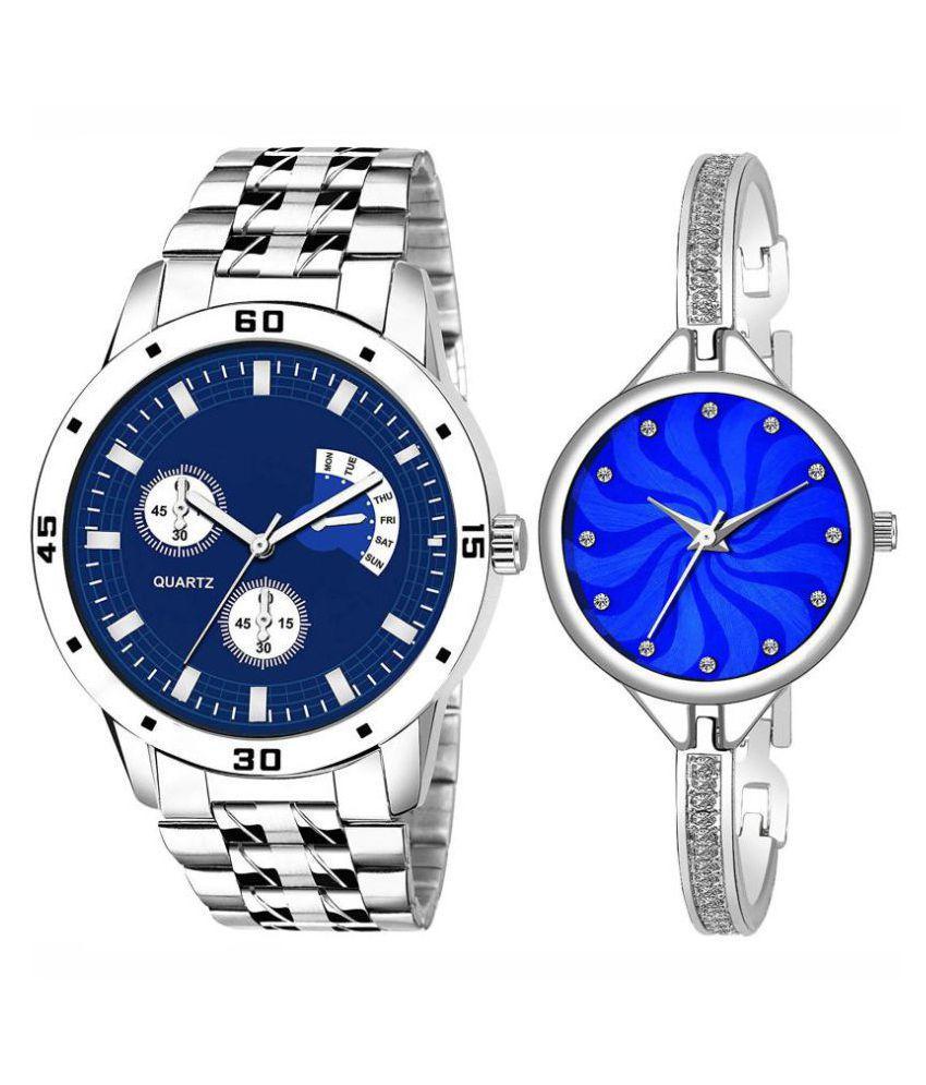 Vrutti enterprise men and women analogue stylish fashionalble couple watch pack of 1 with 1364956660