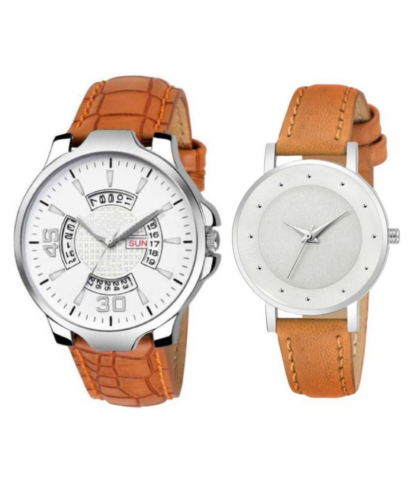 vasant impex men and women analogue stylish fashionalble couple watch pack of 1 with 1364956699