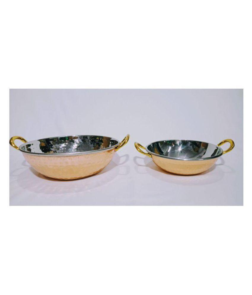 Ornate International 244 Copper Dinner Set of 2 Pieces