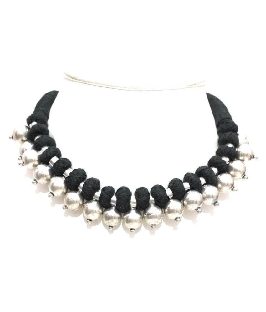 e90768f272 athizay Alloy Black Choker Contemporary/Fashion Oxidised Necklace - Buy  athizay Alloy Black Choker Contemporary/Fashion Oxidised Necklace Online at  Best ...