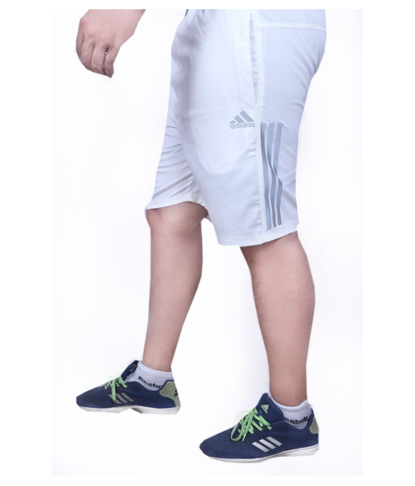 Adidas White 3/4ths