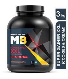 MuscleBlaze Super Gainer XXL 3 kg Mass Gainer Powder