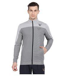 YUUKI Grey Polyester Terry Jacket
