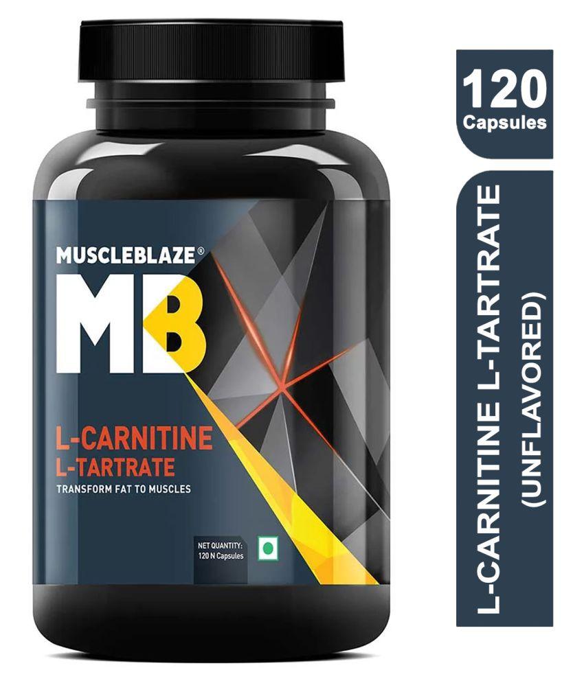 MuscleBlaze L-Carnitine L-Tartrate Fat Burner 120 no.s Fat Burner Capsule