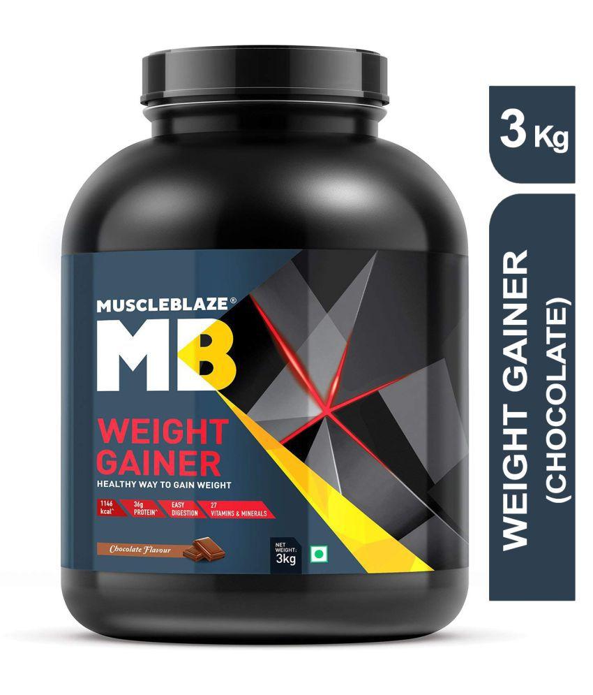 MuscleBlaze Weight Gainer with Added DigeZyme 3 kg Weight Gainer Powder