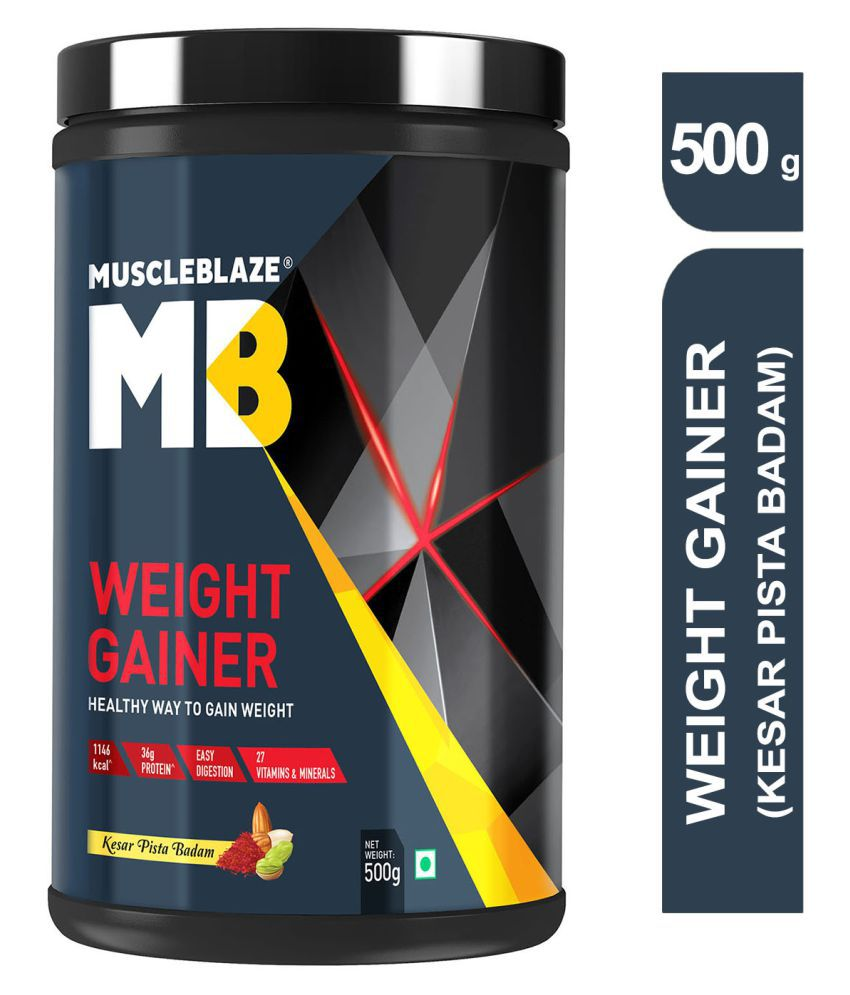 MuscleBlaze Weight Gainer with Added DigeZyme 500 gm Weight Gainer Powder