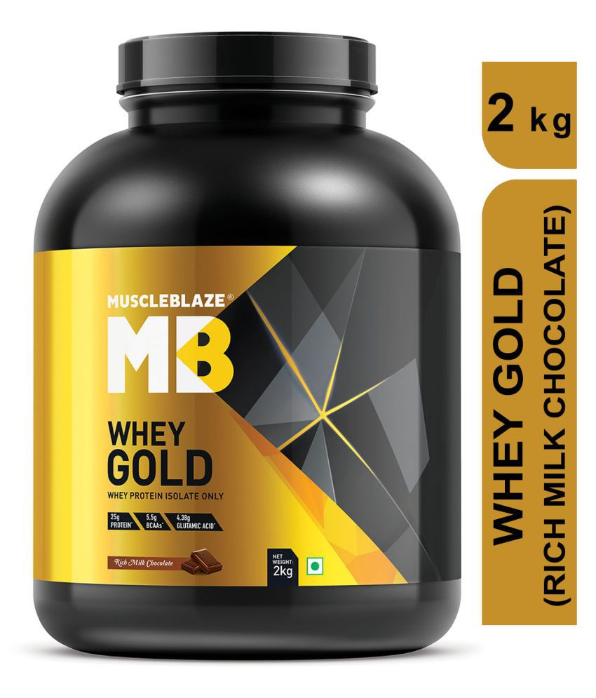 MuscleBlaze Whey Gold 100% (Rich Milk Chocolate) 2 kg