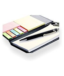 COI Diary Note Pad/Memo Book with Sticky Notes & Clip Holder with Pen for Gifting