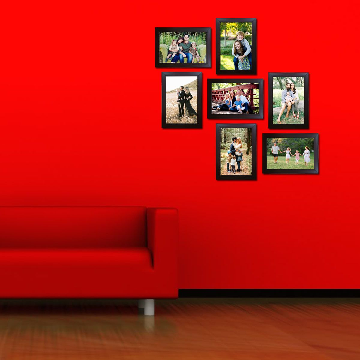 Trends on Wall Acrylic Brown Photo Frame Sets - Pack of 7