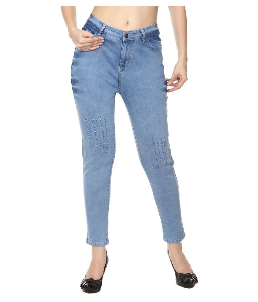 Broadstar Denim Lycra Jeans - Blue