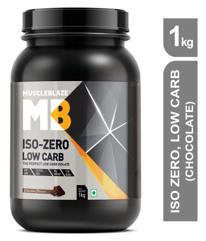 MuscleBlaze Iso zero, LOW CARB, Chocolate 1 kg