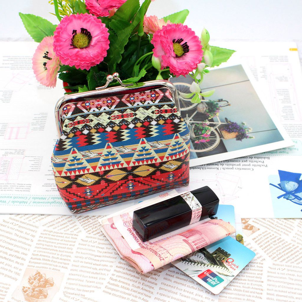 Pouches Bags and Storage for Your Fashion Needs Multicolor Women Printing Character Leather Wallet Coin Purse Card Holders Handbag