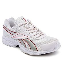 Reebok White Running Shoes