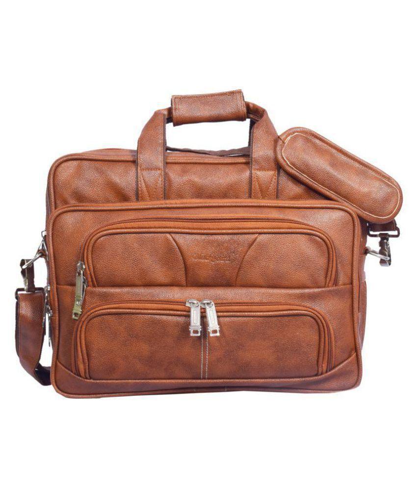Blackbird Brown Synthetic Office Bag