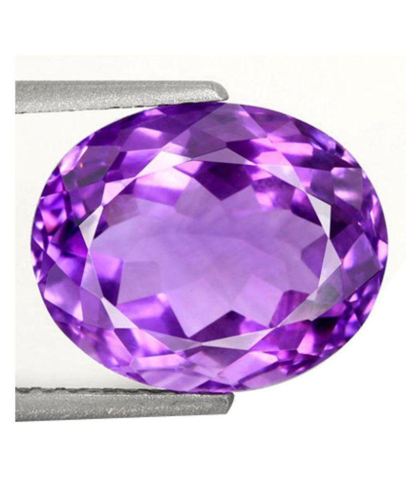 8.25 Ratti Natural Katela Amethyst Crystal Gemstone For Unisex