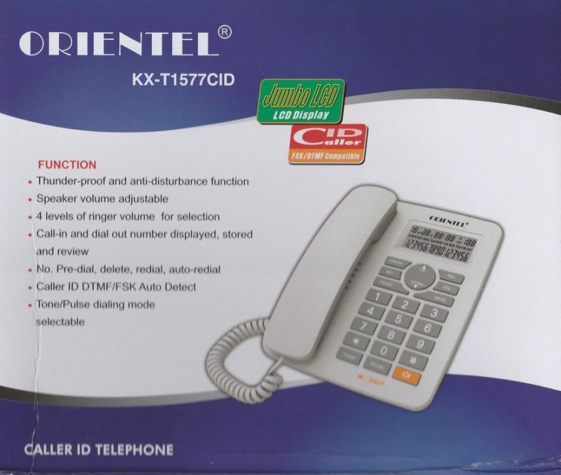 Buy Orientel KX T1577 CID Corded Landline Phone ( Black ) Online at