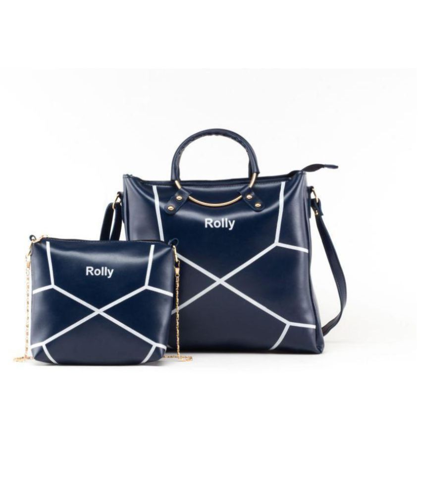 Rolly Dark Blue P U  Sling Bag