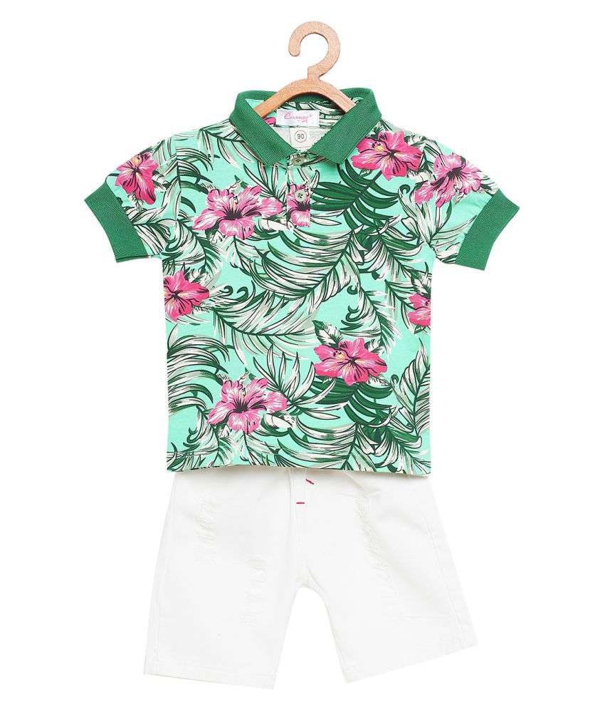 Camey Boys Camouflage Pattern T-Shirt and Shorts Set (3-4 Year)