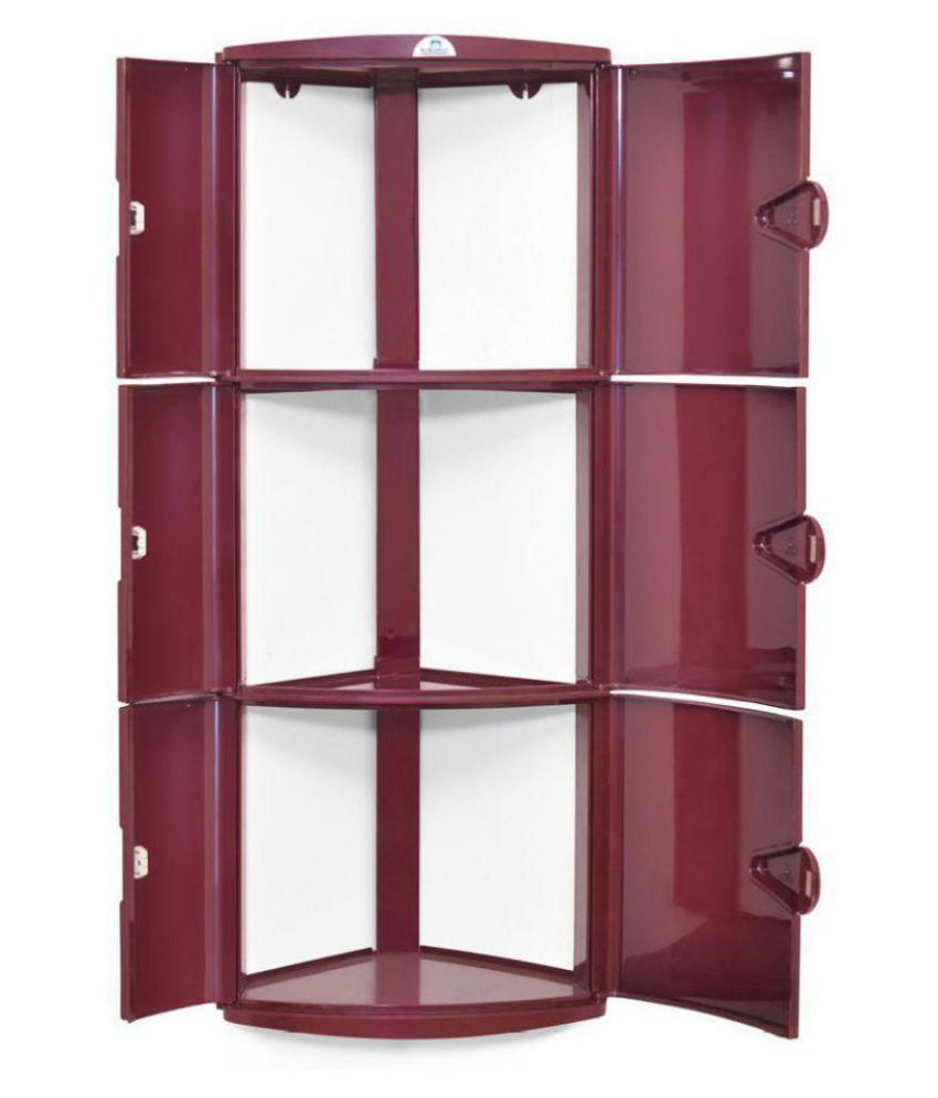 buy nilkamal corner 3 door plastic bathroom cabinet online at low rh snapdeal com