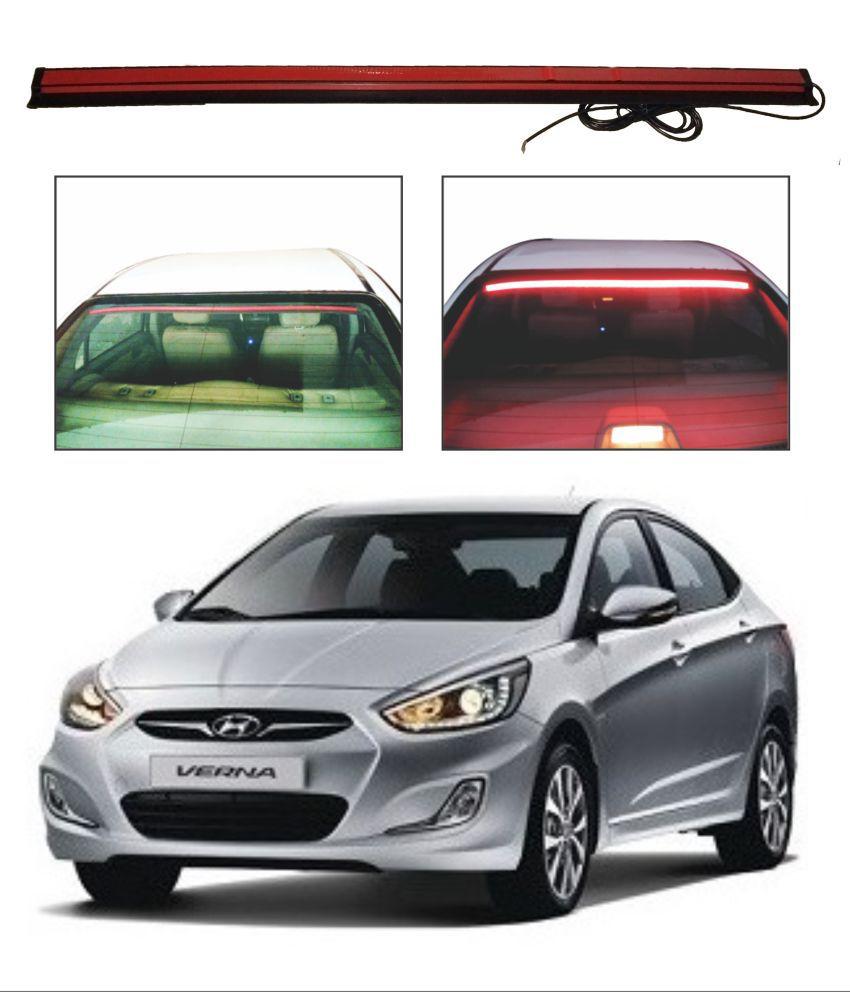 Trigcars Hyundai Verna fluidic Roof line LED Third Brake Light Kit Above Rear Windshield
