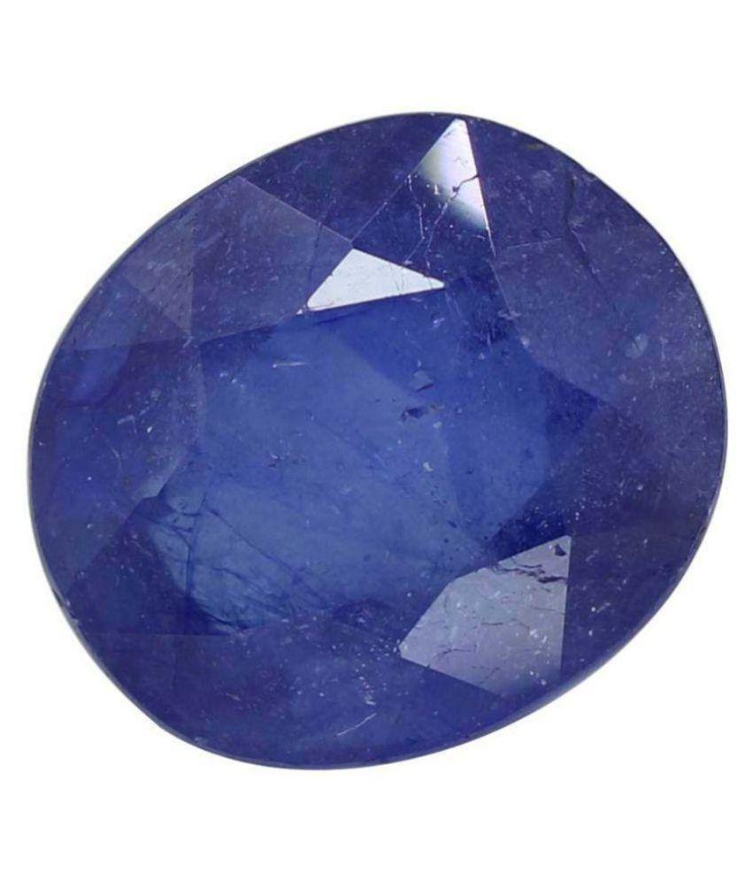 Blue Sapphire (Neelam) 7.25 Ratti Loose Gemstone for Unisex