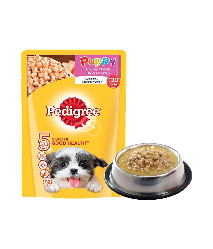 Pedigree Wet Dog Food, Chicken Chunks in Gravy for Puppy ...
