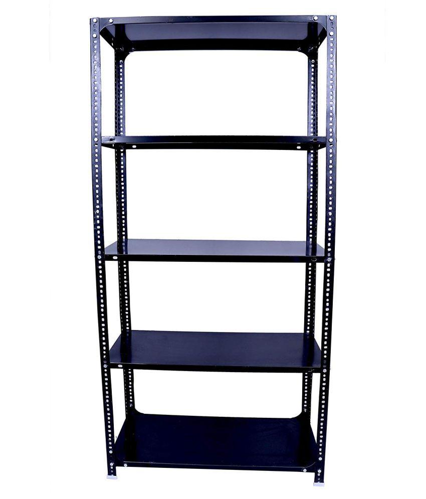 Heavy Duty Slotted Angle Rack 6X3X1 Feet with 5 Shelf Shelving Unit Multipurpose Rack
