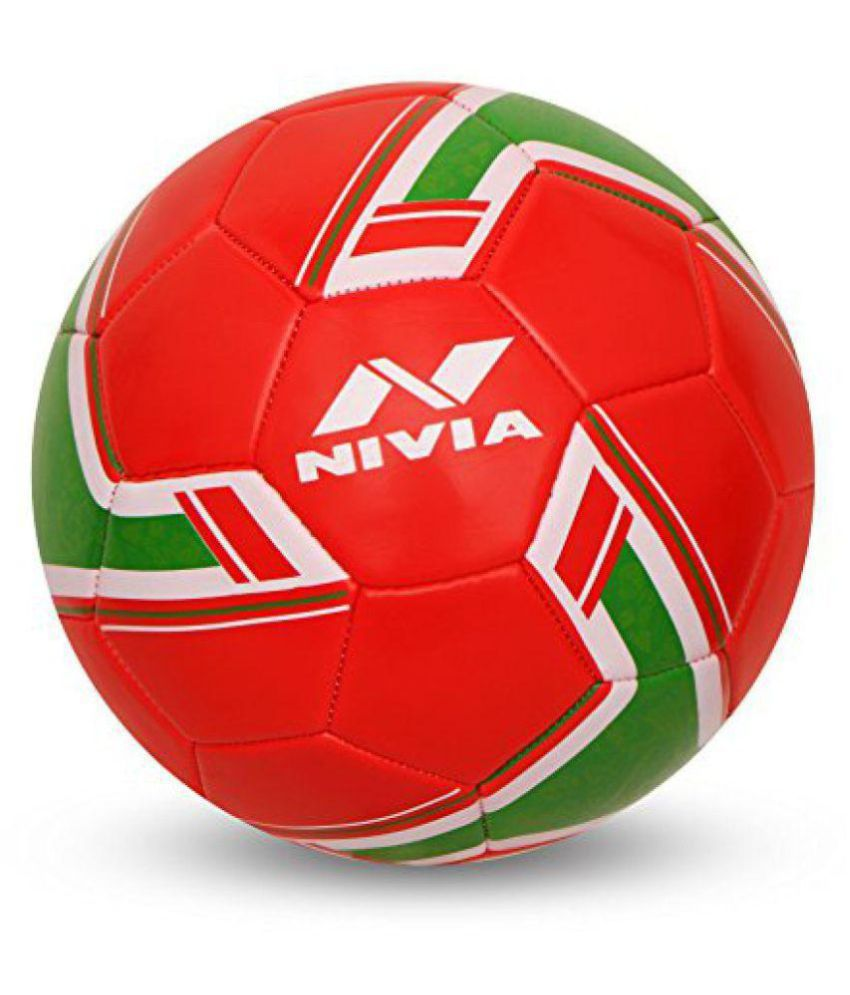 Nivia Nivia Spinner Machine Stitched Football   Portugal Red Football Size  5