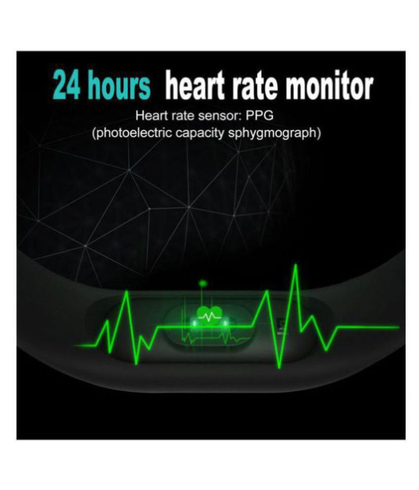 Battlestar M-2 Waterproof Heart Monitoring Fitness Smart Band (Compatible  with all Android & IOS Devices)