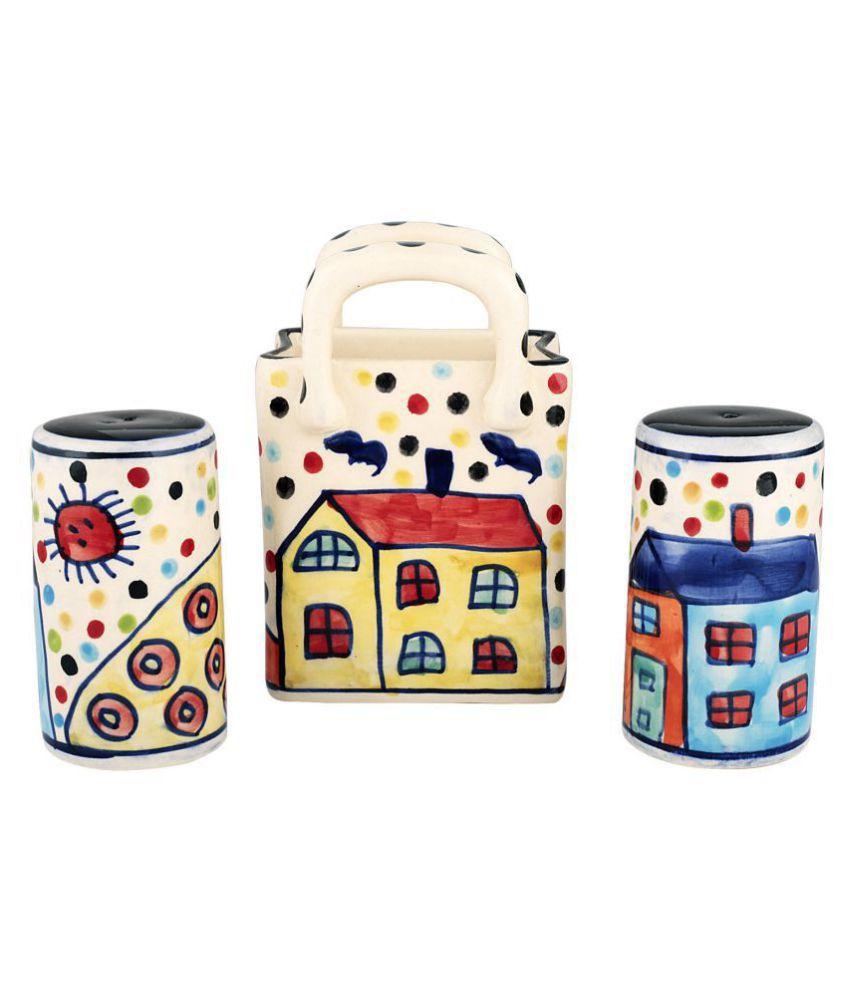 Kittens SaltNPepperSetOf3pc Ceramic Oil Container/Dispenser Set of 3 50 mL