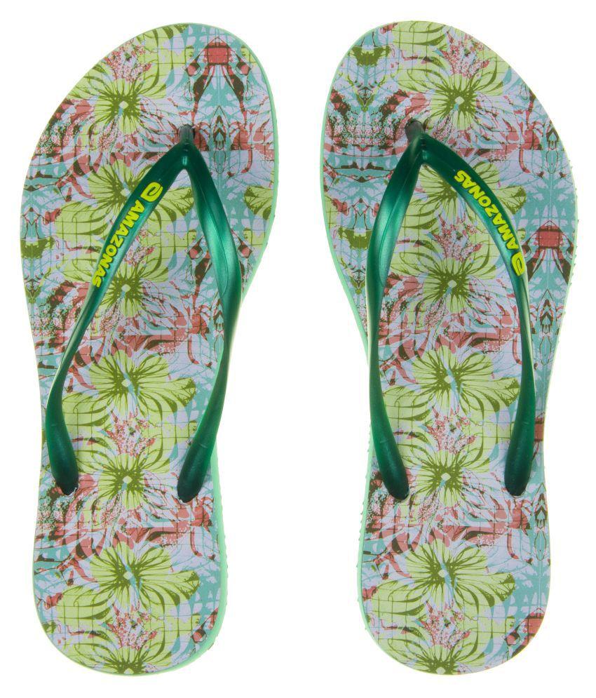 AMAZONAS Green Slippers