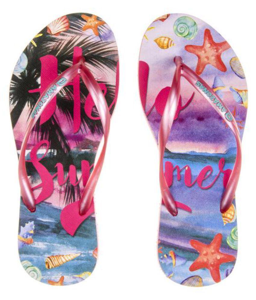AMAZONAS Pink Slippers