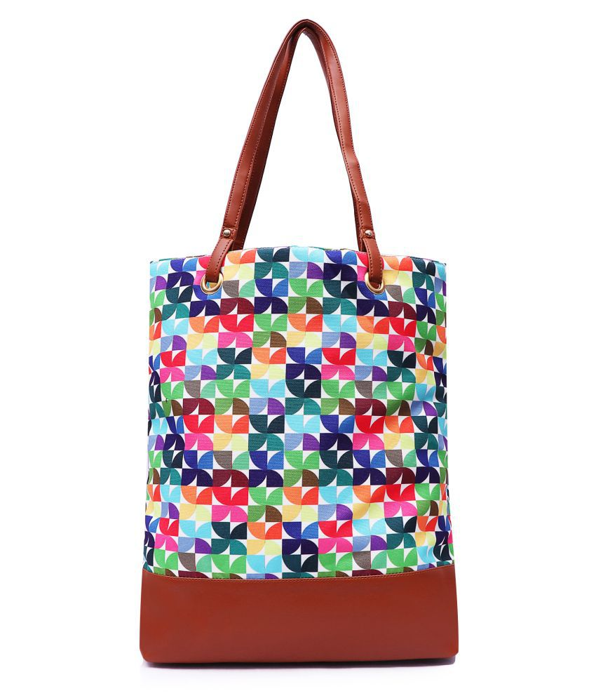 Lychee Bags Multi Canvas Tote Bag
