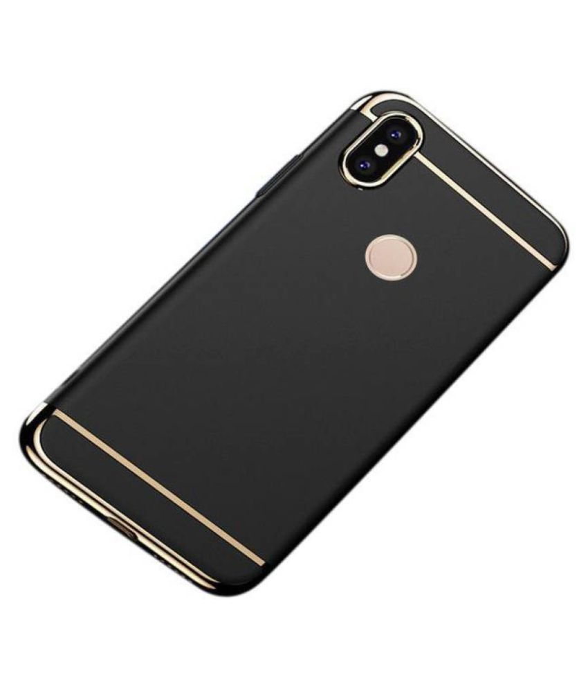 Samsung Galaxy A30 Plain Cases KOVADO - Black 3 In 1 thin chromium glossy finish back cover