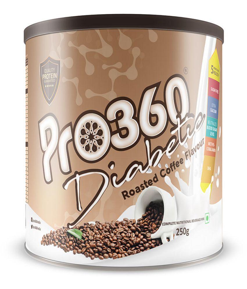 PRO360 Diabetic Protein RoastedCoffee Health Drink Powder 250 gm
