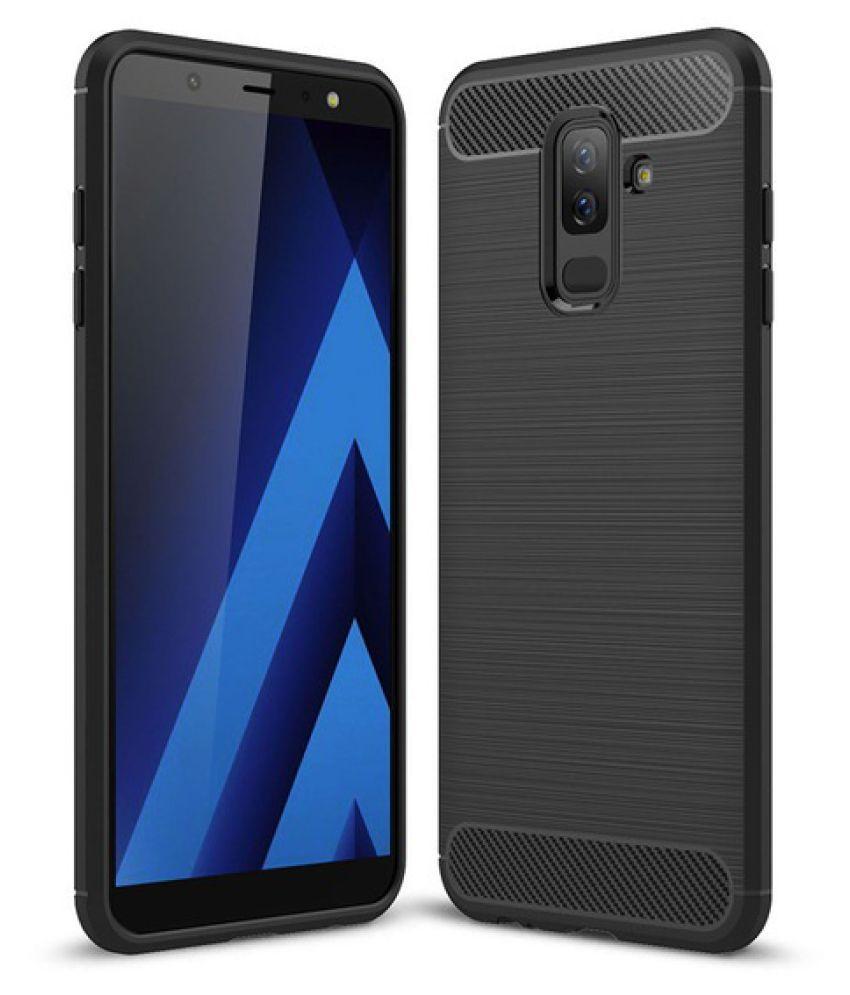 Samsung Galaxy J8 2018 Plain Cases Spectacular Ace - Black