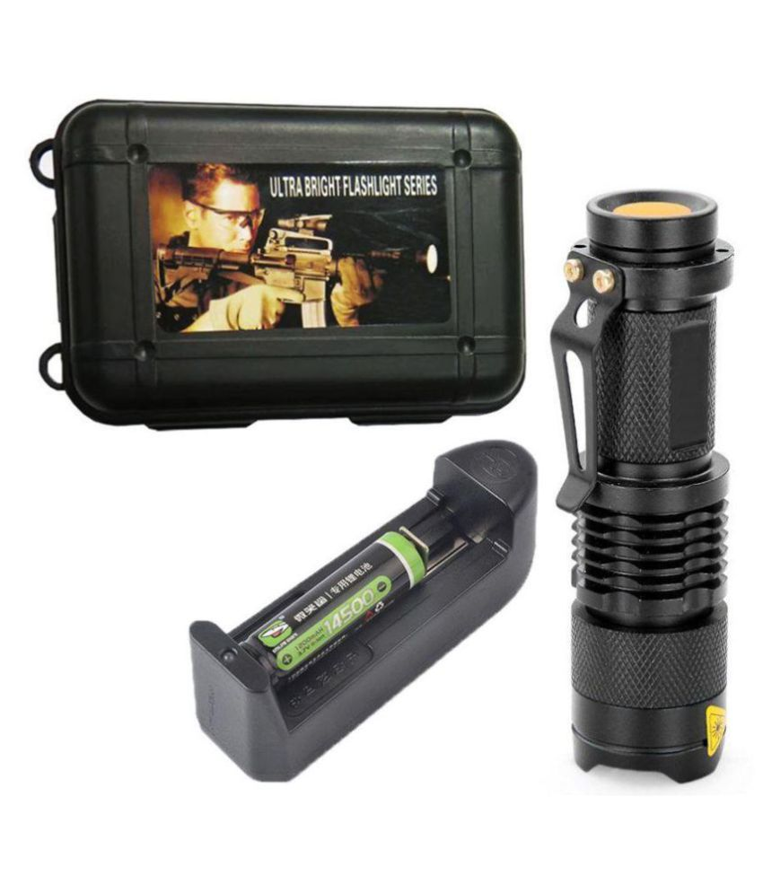 Texme 5W Flashlight Torch 3 Mode Rechargeable - Pack of 1