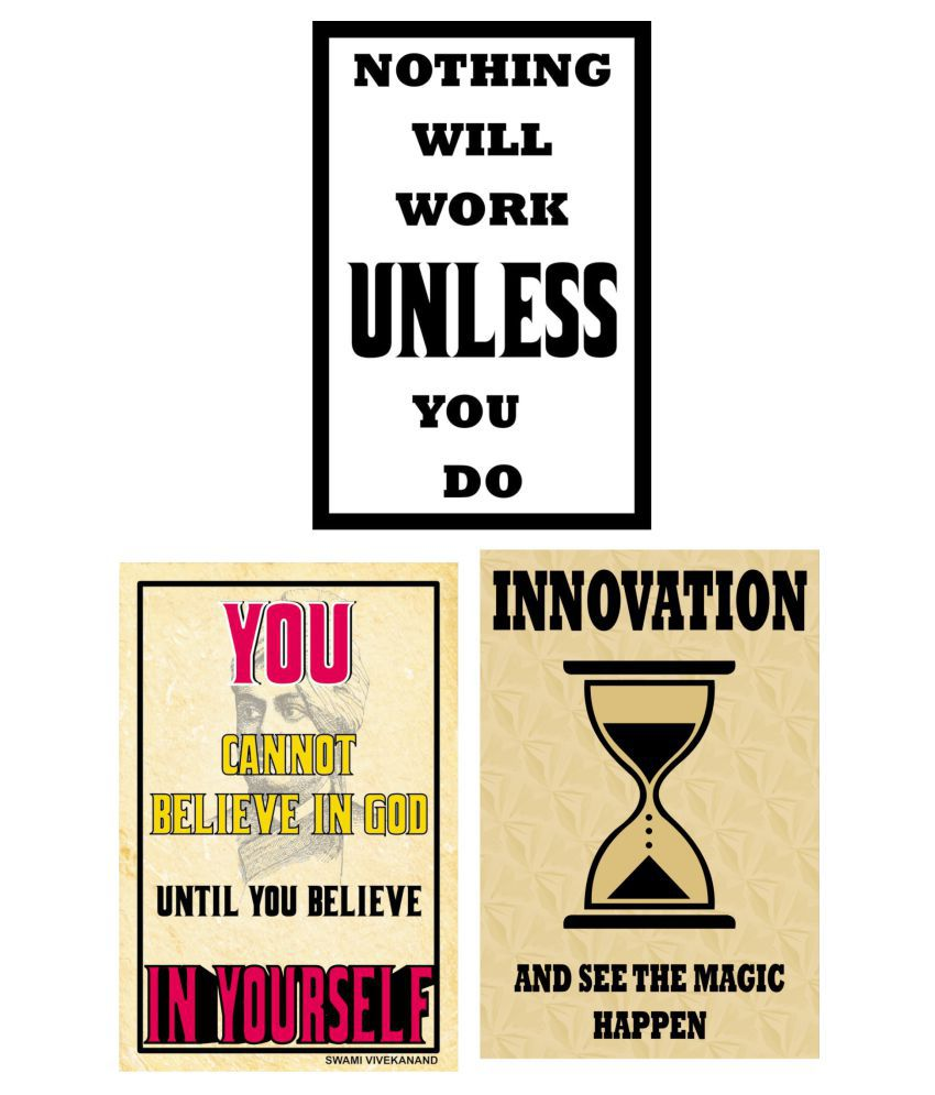 Yellow Alley Inspirational Quotes Poster bo For Wall Decor Paper Wall Poster Without Frame